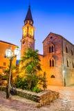 Budva, Montenegro - Sveti Ivan church. Budva, Montenegro. Sveti Ivan St. John Catholic Church Cathedral, Adriatic Sea royalty free stock image
