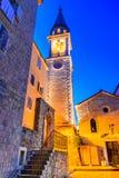 Budva, Montenegro - Sveti Ivan church. Budva, Montenegro. Sveti Ivan St. John Catholic Church Cathedral, Adriatic Sea stock photos