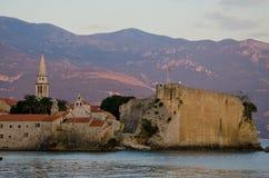 Budva, Montenegro. View of the old town Budva, Montenegro Stock Images