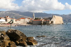 Budva-Montengro. Budva old town historic people life Royalty Free Stock Photography