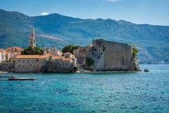Budva nas horas de verão, Montenegro Fotografia de Stock Royalty Free