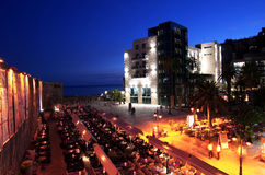 Budva at night. Budva old town at night, nightlife in montenegro stari grad Royalty Free Stock Images