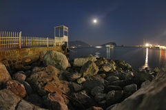 Budva - night shot Stock Images