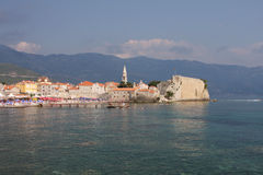 Budva old town. Panorama of Budva old town, Montenegro Royalty Free Stock Photography