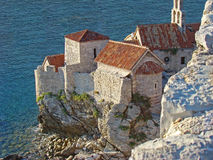 Budva Old town. Top view of the Budva Old town, Montenegro Royalty Free Stock Photo