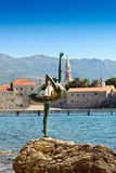 Budva old  town castle Dancing Girl Statue Royalty Free Stock Photo