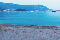 Budva the old town cloudy sky Royalty Free Stock Image