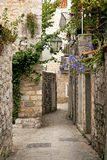 Budva old town cobbled street in montenegro Stock Photo