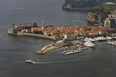 Budva Old Town, Montenegro. Budva old town view from height Stock Photography