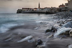 Budva old town in the morning. Royalty Free Stock Photos