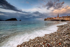 Budva old town in the morning. Stock Photos