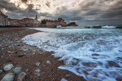 Budva old town in the morning. Royalty Free Stock Image