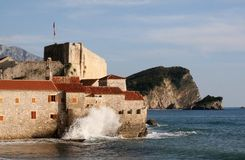 Budva old town is OK royalty free stock images