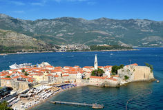 Budva old town view Royalty Free Stock Photo