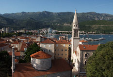 Budva old town. View on Budva old town from the Citadel Royalty Free Stock Image