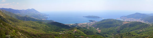 Budva riviera aerial Royalty Free Stock Images