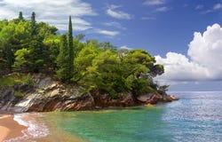 Budva Riviera montenegro lizenzfreie stockfotos