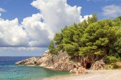 Budva Riviera montenegro stockfotos