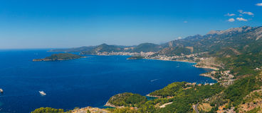 The Budva Riviera in Montenegro. Sea coast of Montenegro Royalty Free Stock Photography