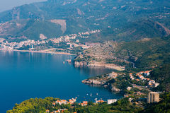 The Budva Riviera in Montenegro. Sea coast of Montenegro Royalty Free Stock Images