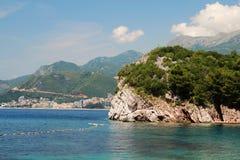 Budva riviera seashore, Montenegro Royalty Free Stock Photography