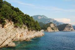 Budva riviera seashore, Montenegro Royalty Free Stock Photos