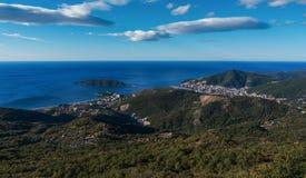 Budva-Stadt und die adriatische Küste, Montenegro Stockfotos