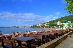 Budva-Stadtküstenpromenade, Montenegro Lizenzfreie Stockbilder