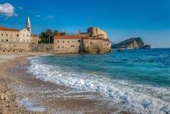 Budva stary Miasteczko, Montenegro obraz stock