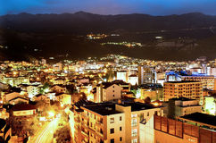 Budva town at night Royalty Free Stock Photo