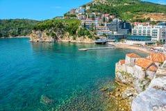 Budva und adriatisches Meer, Montenegro Lizenzfreie Stockfotografie