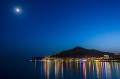 Budva under moonlight Royalty Free Stock Photo