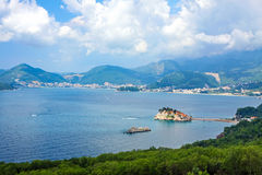 Budvan Riviera and Sveti Stefan island, Montenegro Royalty Free Stock Photography