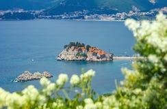 Budvan Riviera and Sveti Stefan island, Montenegro Stock Image