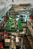 Budvar Budweiser brewery. Bottle sorting, washing and beer bottling workshop with assembly-lines. Ceske Budejovice, Czech Republic - June 30, 2016: Budvar Stock Photos