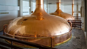 Budvar Budweiser brewery. Malt cooking workshop. Royalty Free Stock Photos