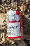 Budweiser beer metal can polluting the environnement