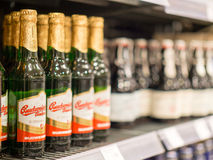 Budweiser. Beers in a store - focus is on the left, copy space to the right Royalty Free Stock Image
