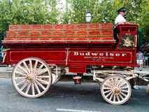 Budweiser Clydesdale wagon. Royalty Free Stock Images