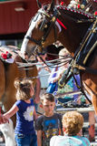 Budweiser Clydesdales in Coeur d' Alene, Idaho Stock Photography