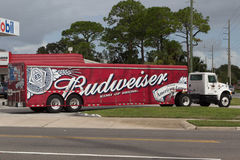 Budweiser Delivery Truck Royalty Free Stock Image
