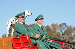 Rose Parade Budweiser Wagon Drivers. Image of the drivers from the iconic Budweiser wagon drawn by the Clydesdales Royalty Free Stock Image