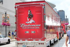 Budweiser Truck Royalty Free Stock Photography