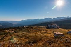 Budy ` Siedem Rila jezior ` i cudowna panorama Rila góra, Bułgaria Zdjęcia Royalty Free