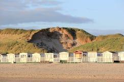 Budy z rzędu Egmond aan Zee, Północny morze holandie Obraz Royalty Free
