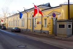 Budynek ambasada królestwo Dani w Moskwa Zdjęcia Stock