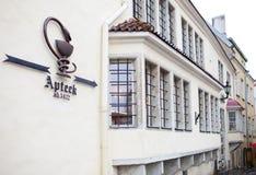 Budynek antyczna apteka, 15 wiek tallinn Zdjęcie Royalty Free