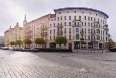 Budynek architektura w Tumski wyspie, Wrocławskiej, Polska Zdjęcie Royalty Free