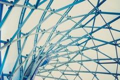 Budynek budowa metal stalowa struktura outdoors fotografia stock