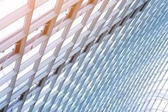 Budynek budowa metal stalowa struktura outdoors zdjęcie stock